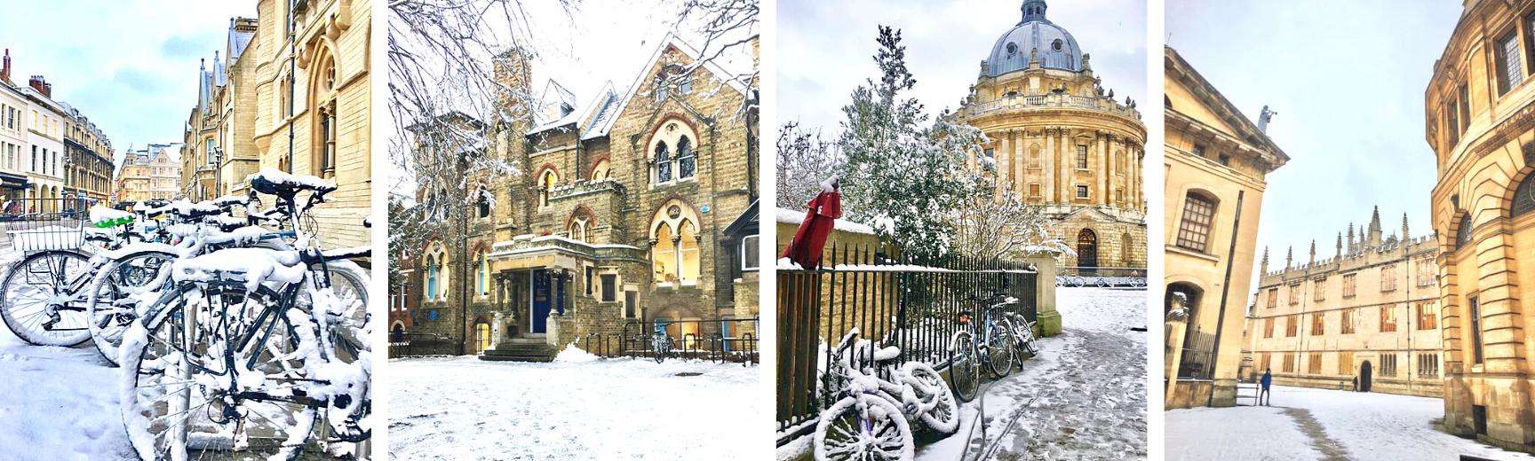 Winter scenes in Oxford