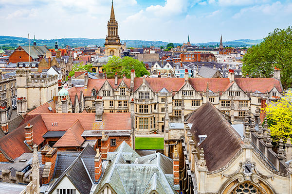View of Oxford rooftops
