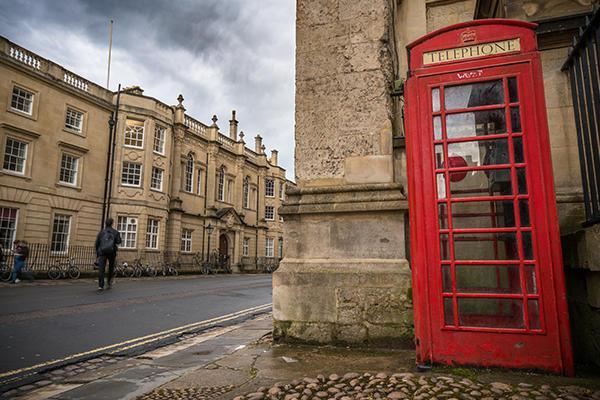 Oxford red telephone box