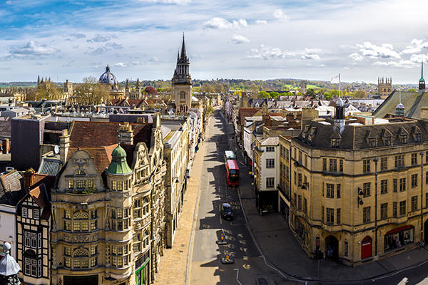 Oxford skyline wide angle