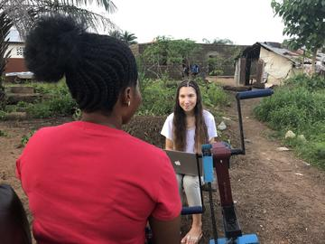 Alina Kunish, Regent's Park College, BA in Theology and Religion. Summer internship with One Family People in Sierra Leone