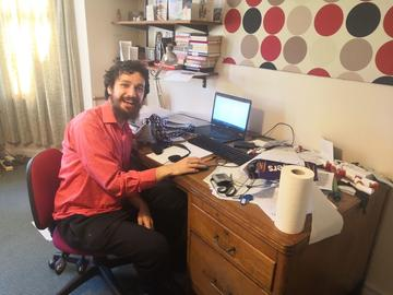 Picture of richard working on his micro-internship